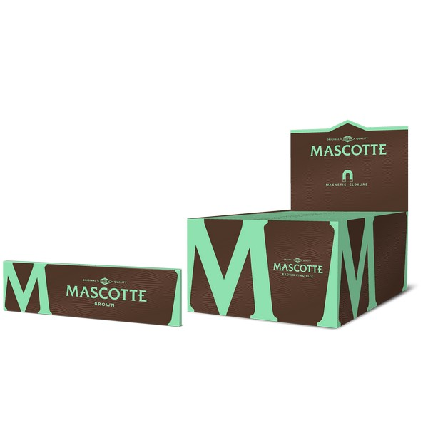 Mascotte Brown King Size (with Magnet) booklet+box