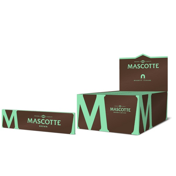 Mascotte Brown Slim Size (with Magnet) booklet + box
